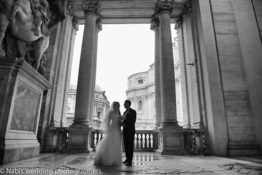 Dreamy wedding at Saint Peter's basilica in Rome
